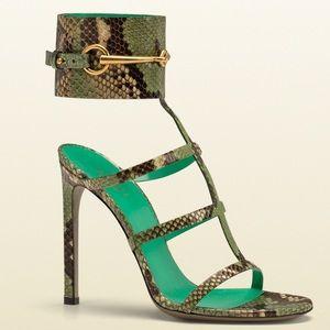 Gucci Python Ursula Cage Sandals (Size 36)